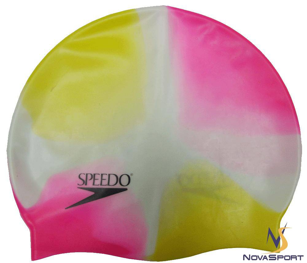 """Шапочка для плавания  """"Speedo """", однотонный и многоцветный дизайн, безразмерная, в прозрачной..."""