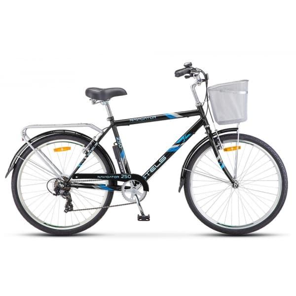"Велосипед Stels Navigator 26"" 250 Gent Z010 Серый (с корзиной) (LU089100)"