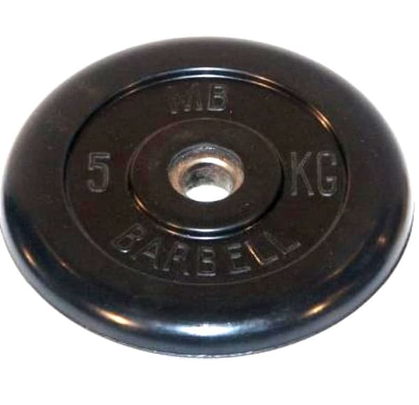 Диск обрезиненный, чёрного цвета, 31 мм, 20 кг Atlet