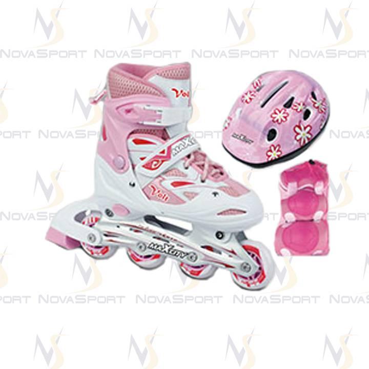 Роликовые коньки MC VOLT COMBO Розовый