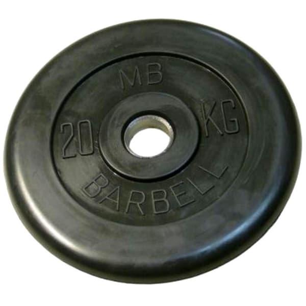 Диск Bestway обрезиненный литой черный 26 мм 20 кг
