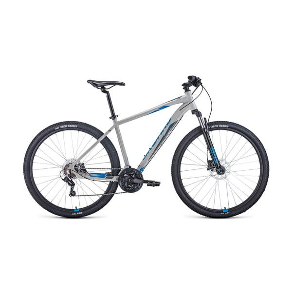 Велосипед 29` Forward Apache 29 3.2 disc AL Серый/Синий 20-21 г