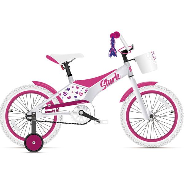 Велосипед Stark`21 Tanuki 14 Girl белый/розовый HQ-0004724