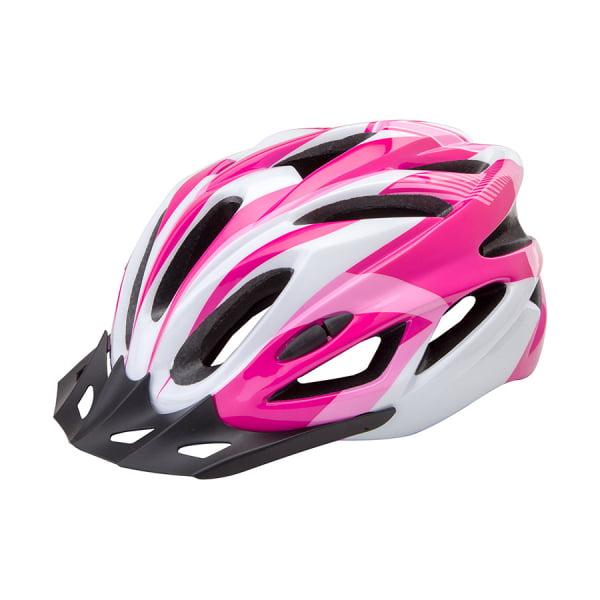 Шлем защитный FSD-HL022 (in-mold) L (58-60 см) бело-розовый/600131