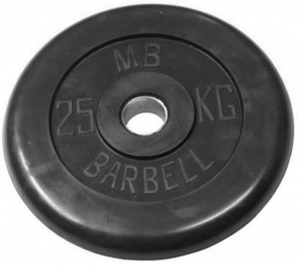 Диск Bestway обрезиненный литой черный 31 мм 15 кг