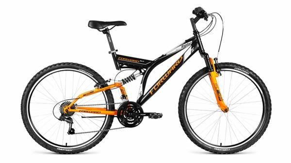 """Велосипед 26"""" Forward Raptor 1.0 Черный/Желтый Матовый 18 ск 17-18 г"""