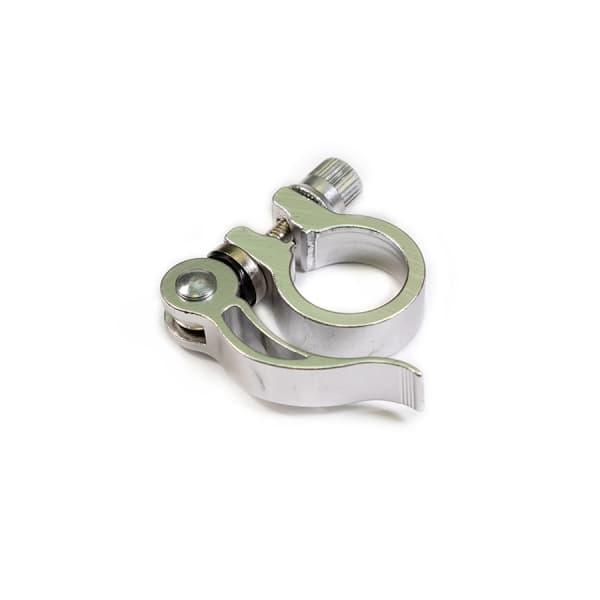 Зажим подседельной трубы JB-KC010 AL 34.9 mm серебро