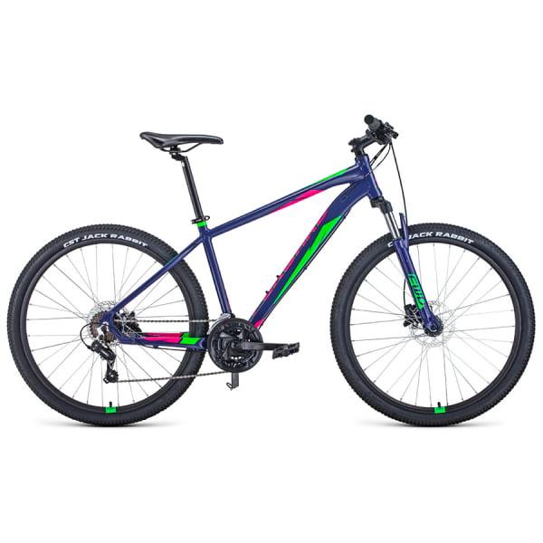 Велосипед 27,5` Forward Apache 27,5 3.0 disc AL Фиолетовый/Зеленый 20-21 г
