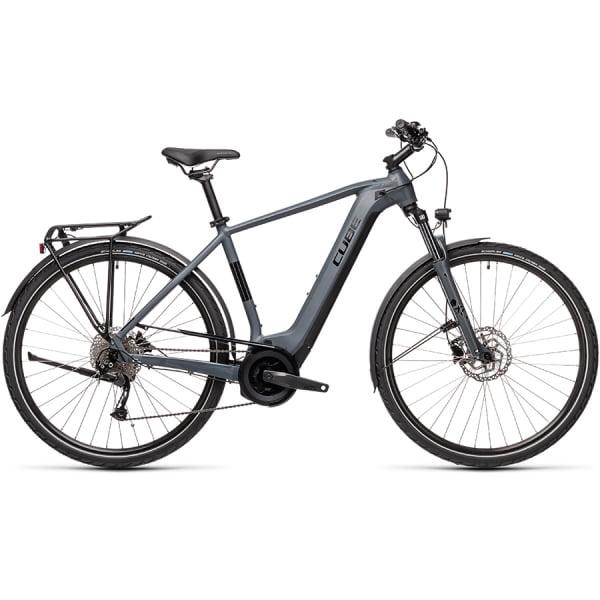 Велосипед CUBE TOURING HYBRID ONE 500 (grey`n`black) 2021
