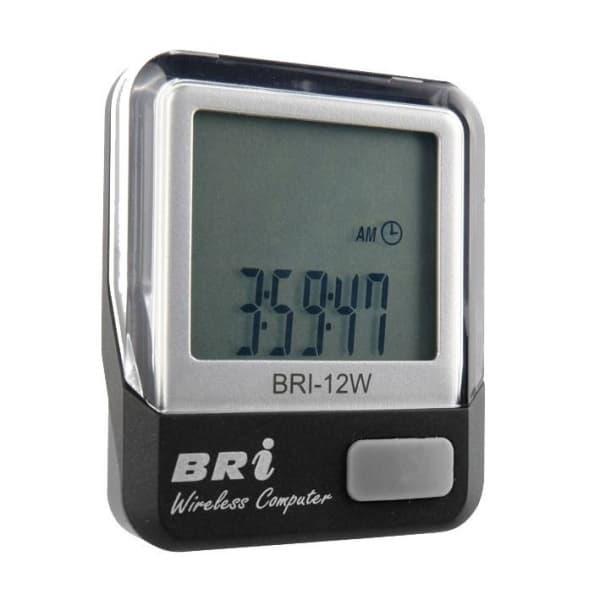 Велокомпьютер BRI-12W,серебро,беспроводной,12 функций