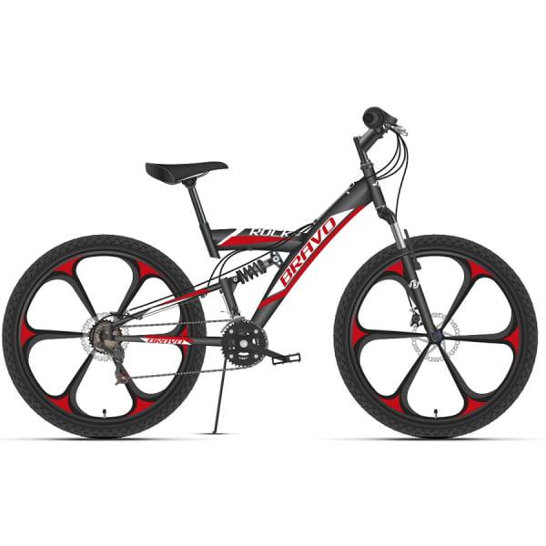 Велосипед Bravo Rock 26 D FW черный/красный/белый 2020-2021