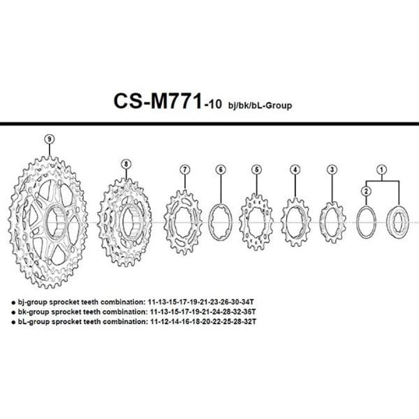 Звезды д/кассеты Shimano XT M771-10 (14T) Y1YR14000