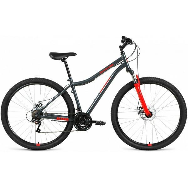 Велосипед 29` Altair MTB HT 29 2.0 disc 21 ск Темно-серый/Красный 20-21 г