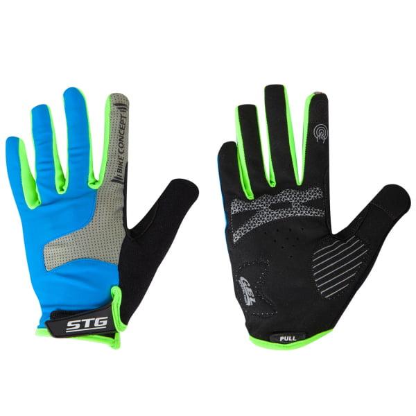 Велоперчатки STG AL-05-1871 синие/серые/черные/зеленые Х98254