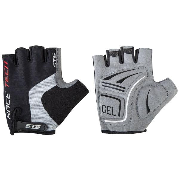 Велоперчатки STG AI-03-176 черный/серый на липучке Х81535