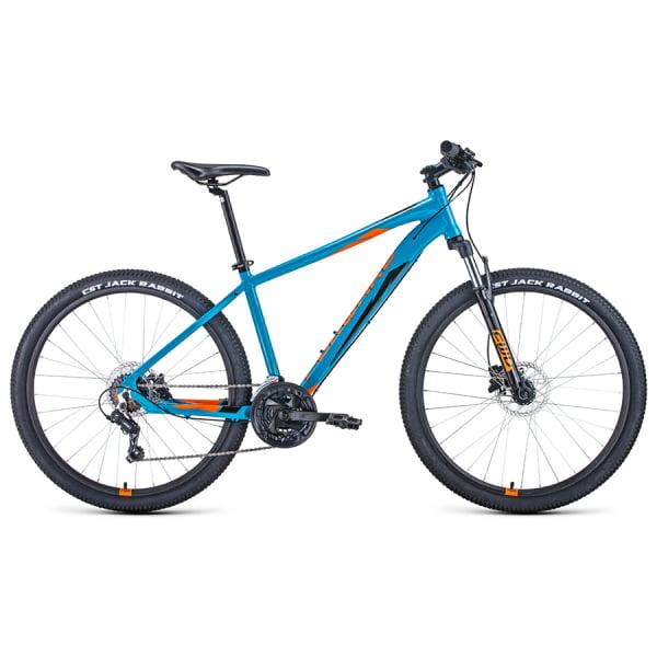 Велосипед 27,5` Forward Apache 27,5 3.0 disc AL Бирюзовый/Оранжевый 20-21 г