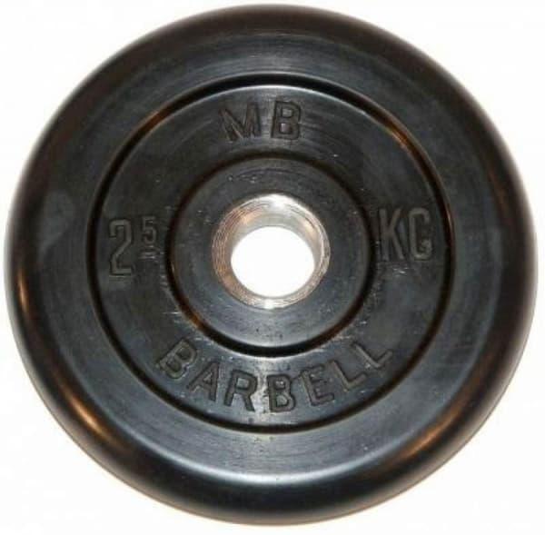 Диск Bestway обрезиненный литой черный 26 мм 2.5 кг