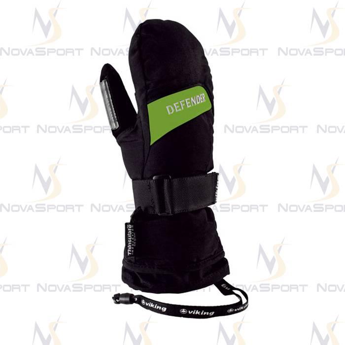 Лыжные перчатки Viking Defender Mitten Black-green