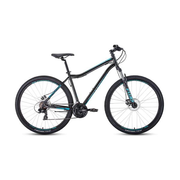 Велосипед 29` Forward Sporting 29 2.0 disc Черный/Бирюзовый 20-21 г