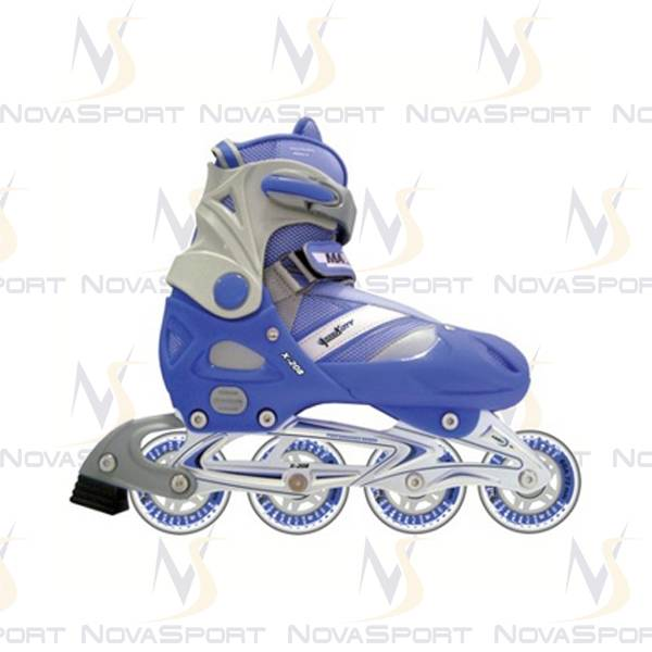 Роликовые коньки PUNTO X-208 синий