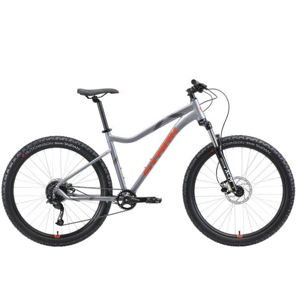 Велосипед Stark`21 Tactic 27.5 + HD серебристый/оранжевый