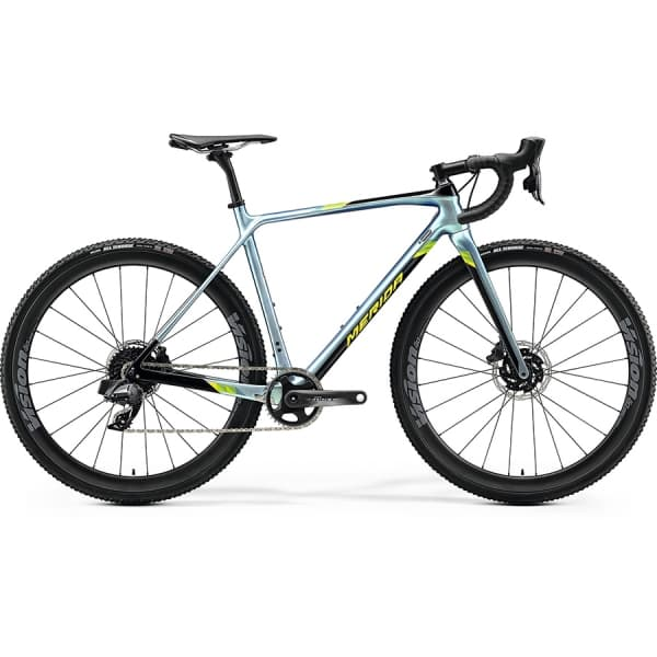 Велосипед Merida Mission CX Force-Edition GlossySparklingBlue/Black/Lime 2020