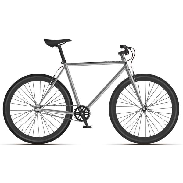 Велосипед Black One Urban 700 серебристый/черный 2020-2021