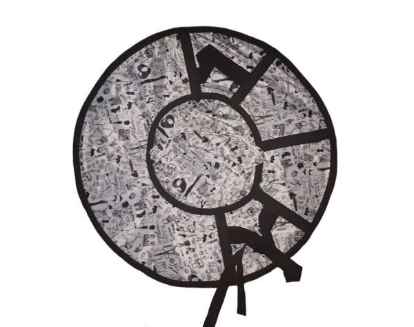 Санки надувные 80 см Тюбинг Эконом ткань/тент с рисунком (без гарантии на камеру R15)