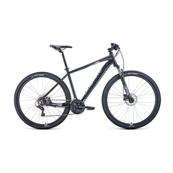 Велосипед 29` Forward Apache 29 3.2 disc AL Черный матовый/Серебро 20-21 г