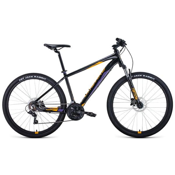 Велосипед 27,5` Forward Apache 27,5 3.0 disc AL Черный/Оранжевый 20-21 г