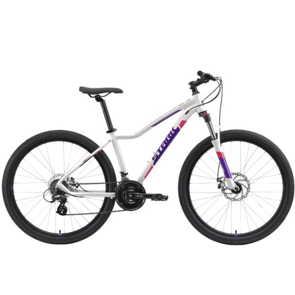 Велосипед Stark`21 Viva 27.2 D белый/фиолетовый