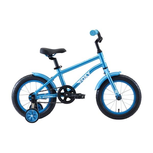 Велосипед Stark`20 Foxy 14 Boy голубой/белый H000016494