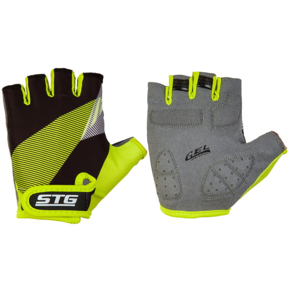 Велоперчатки STG 911 Черн/салат Х87911
