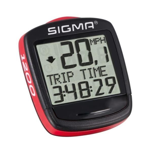 Велокомпьютер Sigma ВС 1200 BASELINE, 12 функций, проводной, красно/черный