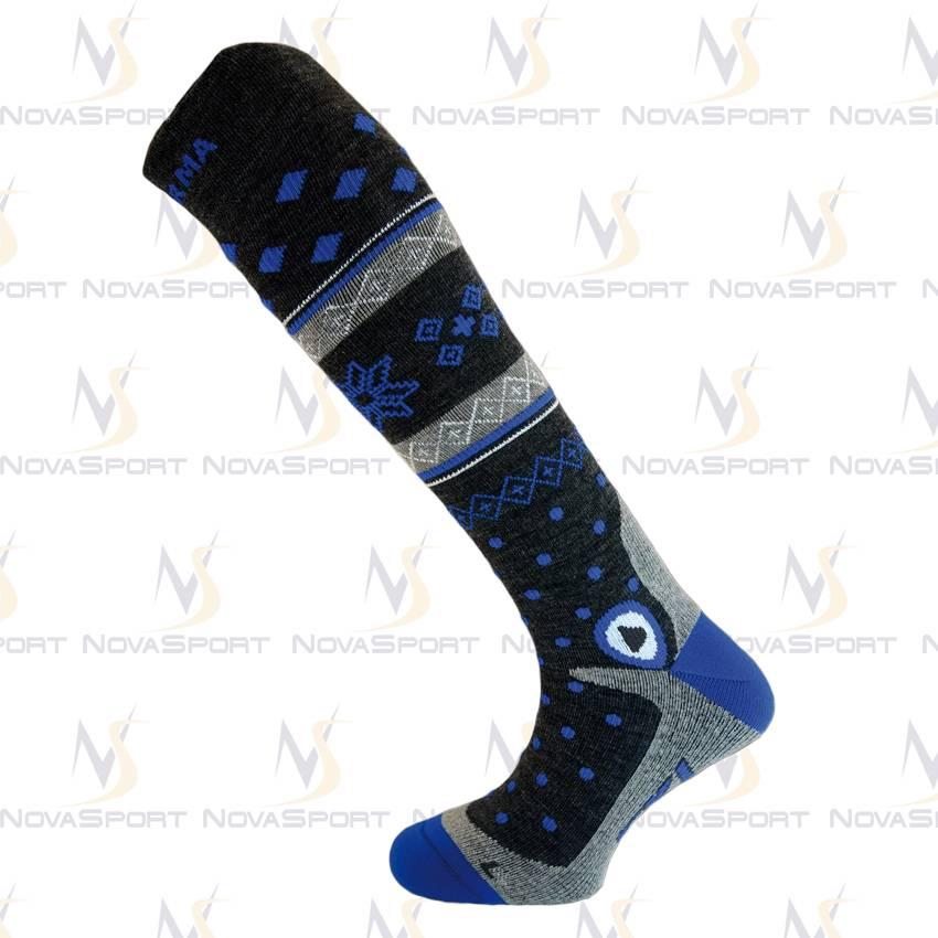 Носки Enforma Freeski Hot Compression grey/blue 4-1043