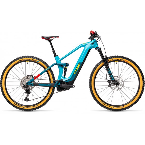 Велосипед CUBE STEREO HYBRID 140 HPC SL 625 29 (petrol`n`peach) 2021