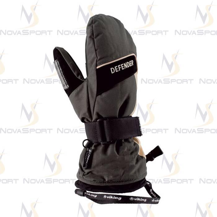 Лыжные перчатки Viking Defender Mitten Grey-black