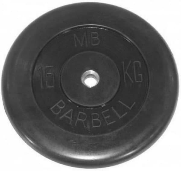 Диск Bestway обрезиненный черный 31 мм 15 кг