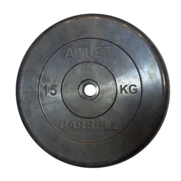 Диск Bestway обрезиненный черный 26 мм 15 кг