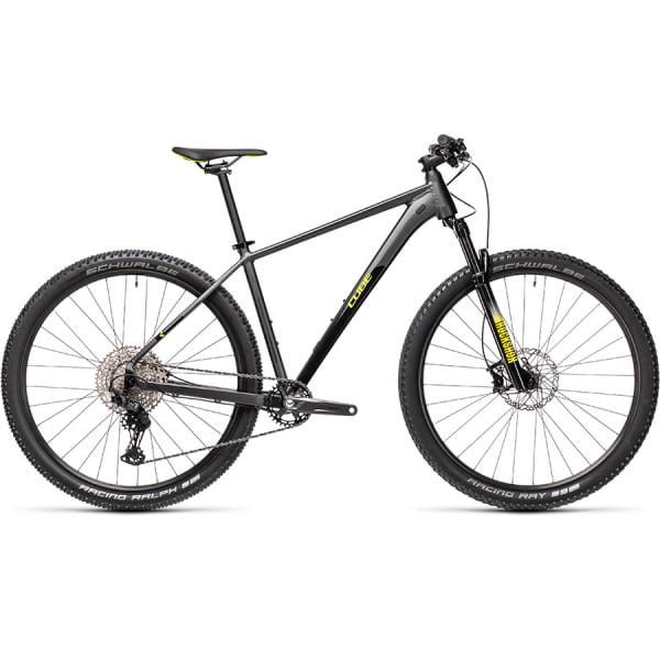 Велосипед CUBE REACTION PRO 29 (grey`n`yellow) 2021