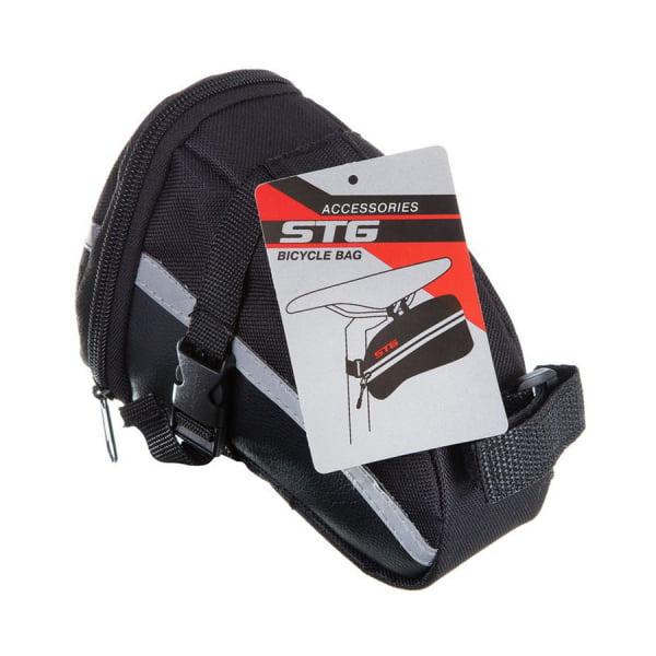 Велосумка STG 13196 под седло, черная. Х83840