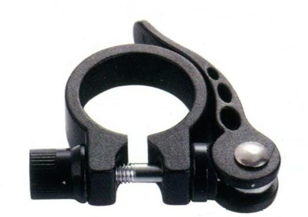 Зажим подседельной трубы KL-M07 28,6 мм эксцентрик алюминиевый черный/180030