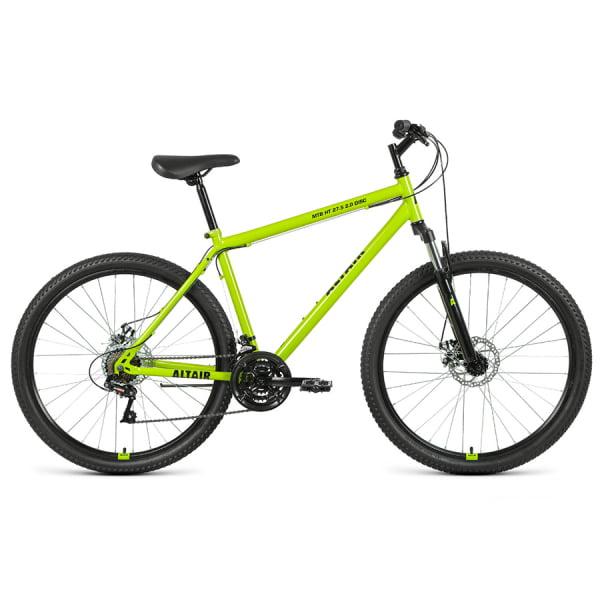 Велосипед 27,5` Altair MTB HT 27,5 2.0 disc 21 ск Зеленый/Черный 20-21 г