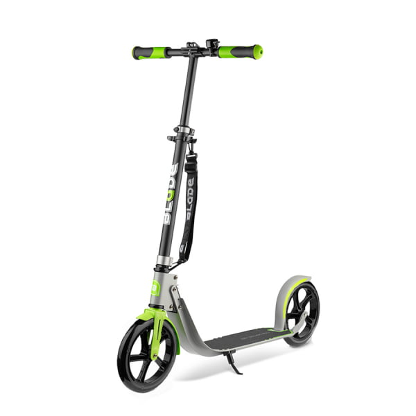 Самокат BLADE Sport PU Cross 230 mm, grey/green
