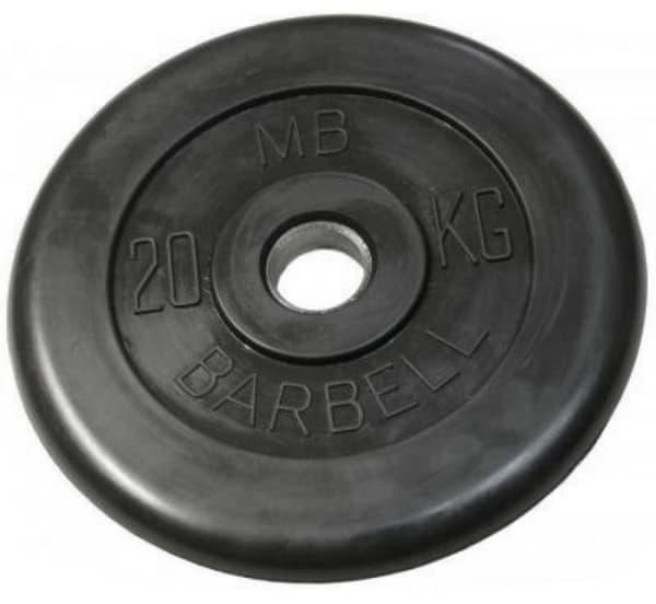 Диск Bestway обрезиненный литой черный 31 мм 20 кг