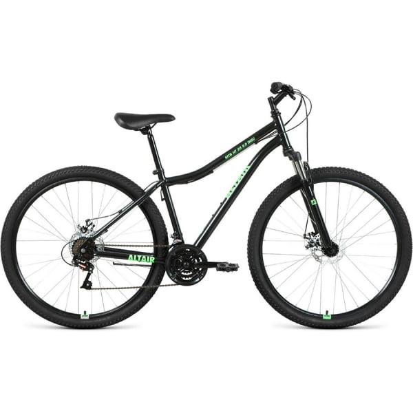 Велосипед 29` Altair MTB HT 29 2.0 disc 21 ск Черный/Ярко-зеленый 20-21 г
